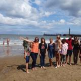 At the beach in Whitby