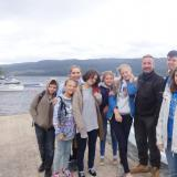 With the captain of the research team in Loch Ness